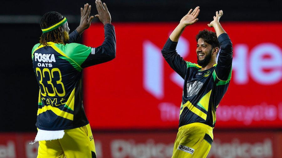 Imad Wasim shines with bowling figures of 2/21 in the Caribbean Premier League