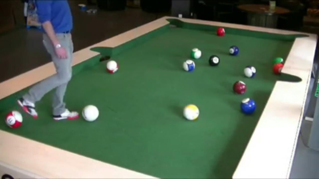 Soccer Player On Pool Table ESPN Video - El pool table