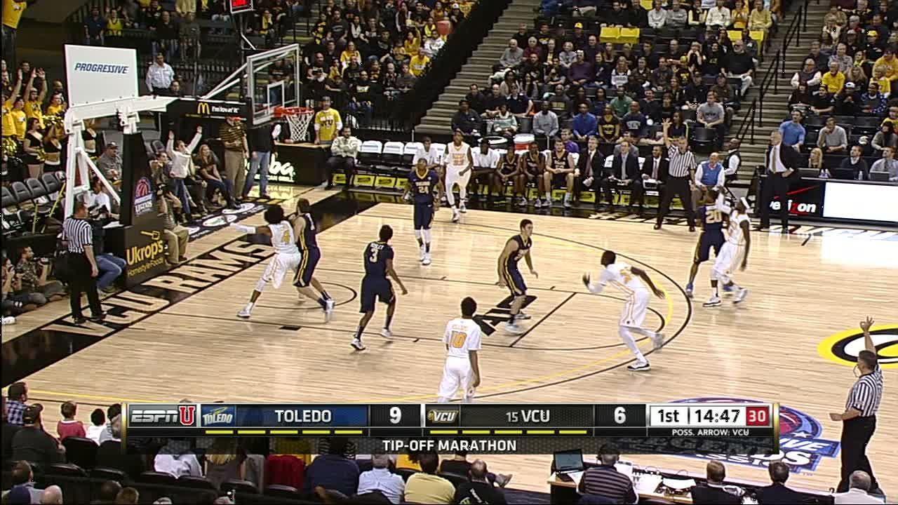 1H VCU B. Weber made Three Point Jumper. - ESPN Video