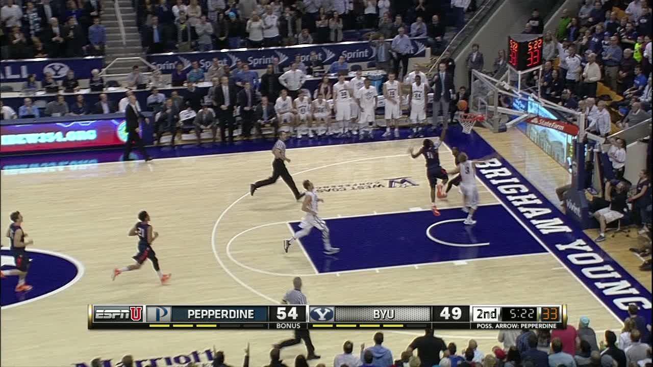 2H BYU T. Haws made Layup. - ESPN Video
