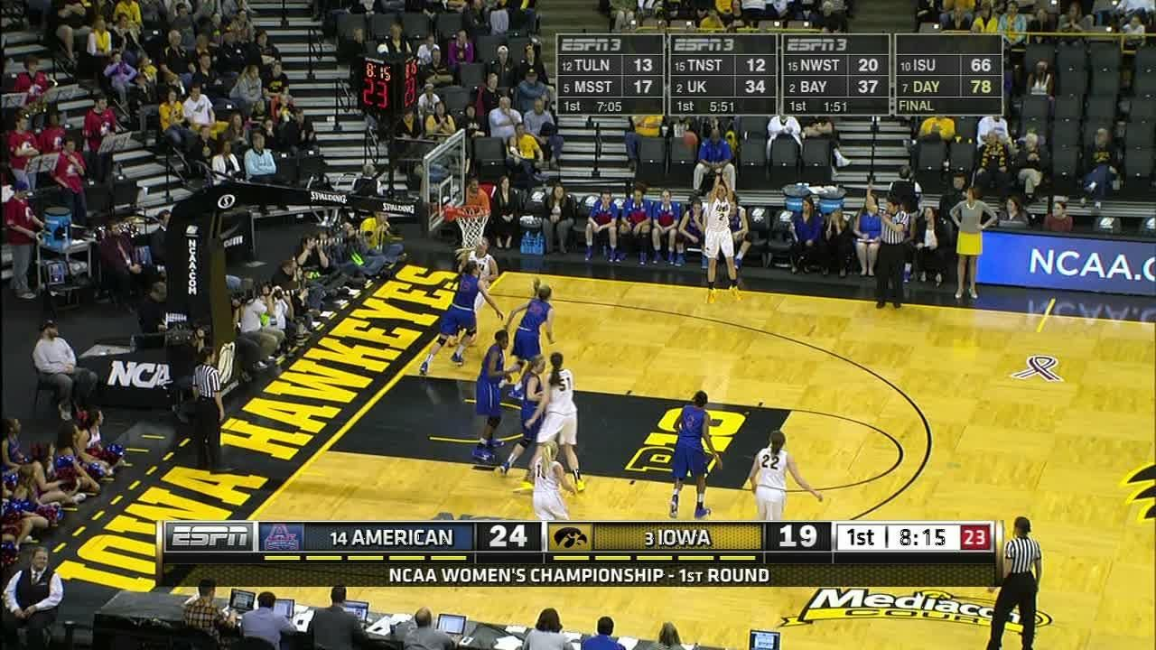 1H IOWA A. Disterhoft made Three Point Jumper. Assisted by ...