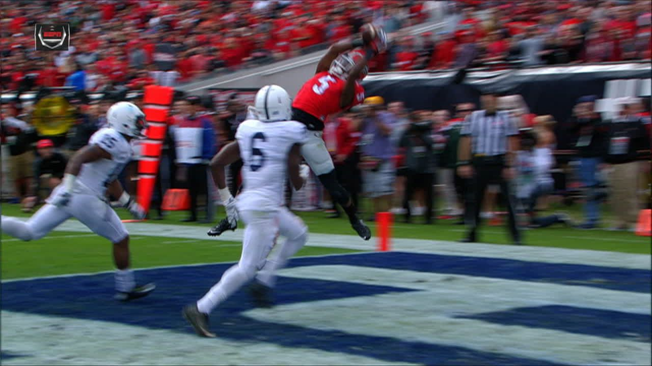 Georgia extends lead with nice TD reception