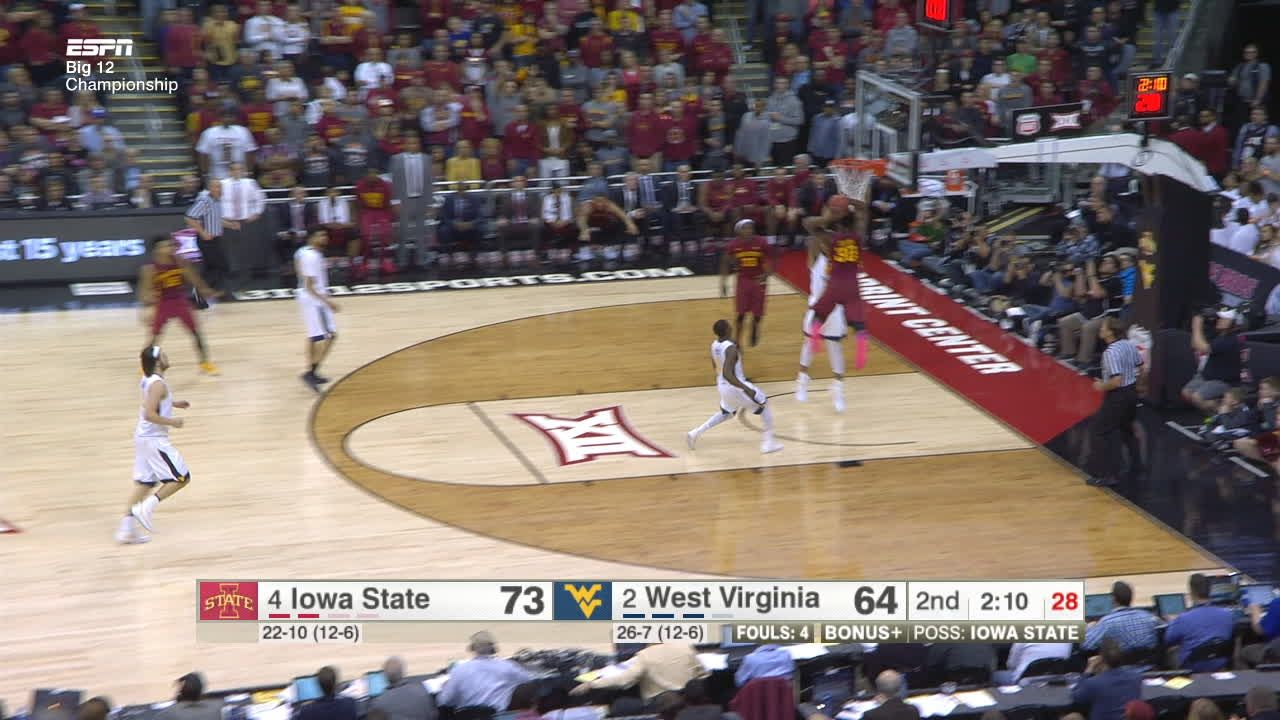 Burton slams in huge dunk for Iowa State - ESPN Video