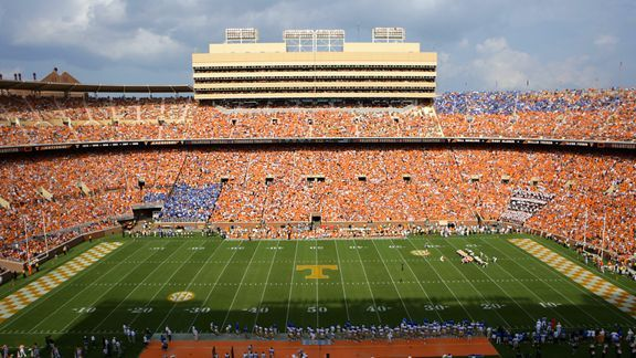 Neyland Stadium -- The color orange  Neyland Stadium...