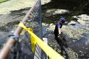 Cops resume search of pond