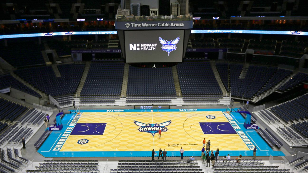 Golden State Warriors Home Court >> Charlotte Hornets unveil new basketball court design
