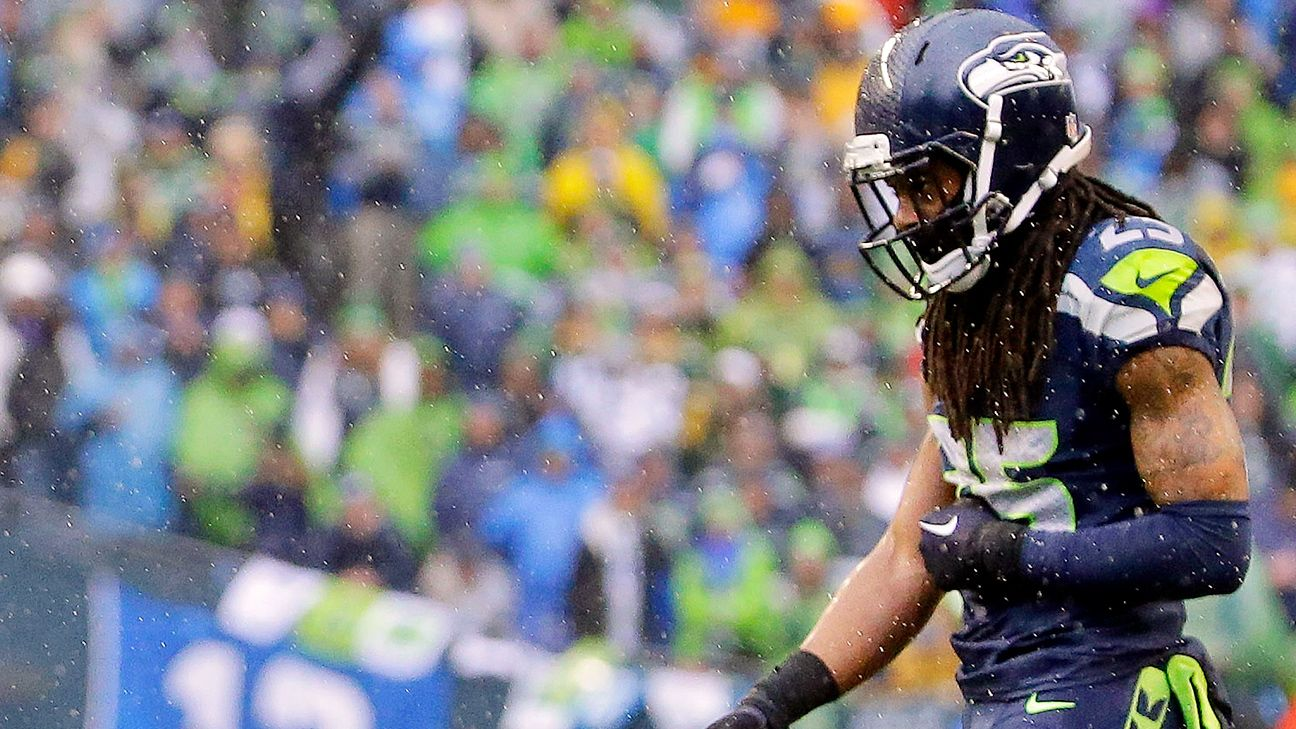 Sherman played with tear in elbow