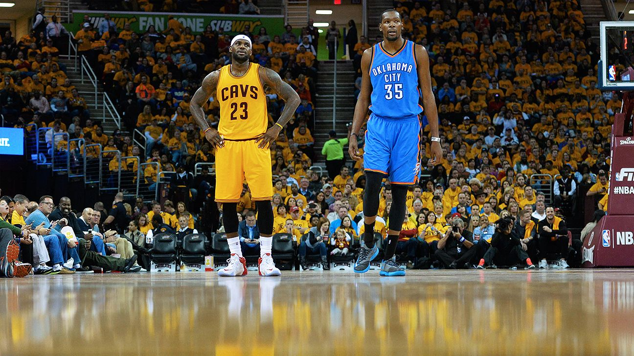LeBron James of Cleveland Cavaliers praises Kevin Durant of Oklahoma City Thunder for all-around ...