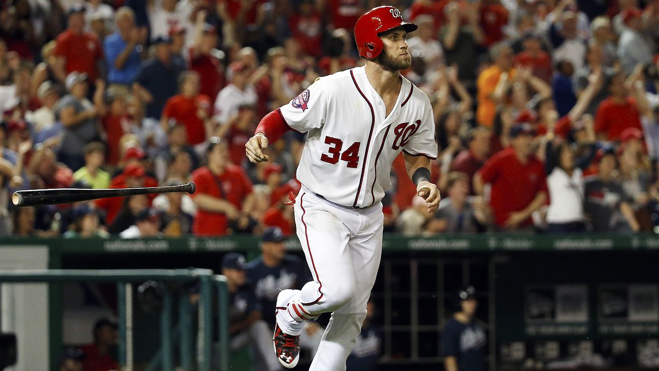 After Nationals star Bryce Harper failed to run to first base after a ground ball Friday, manager Dave Martinez said he spoke to the star about the incident and that there were no lingering issues.