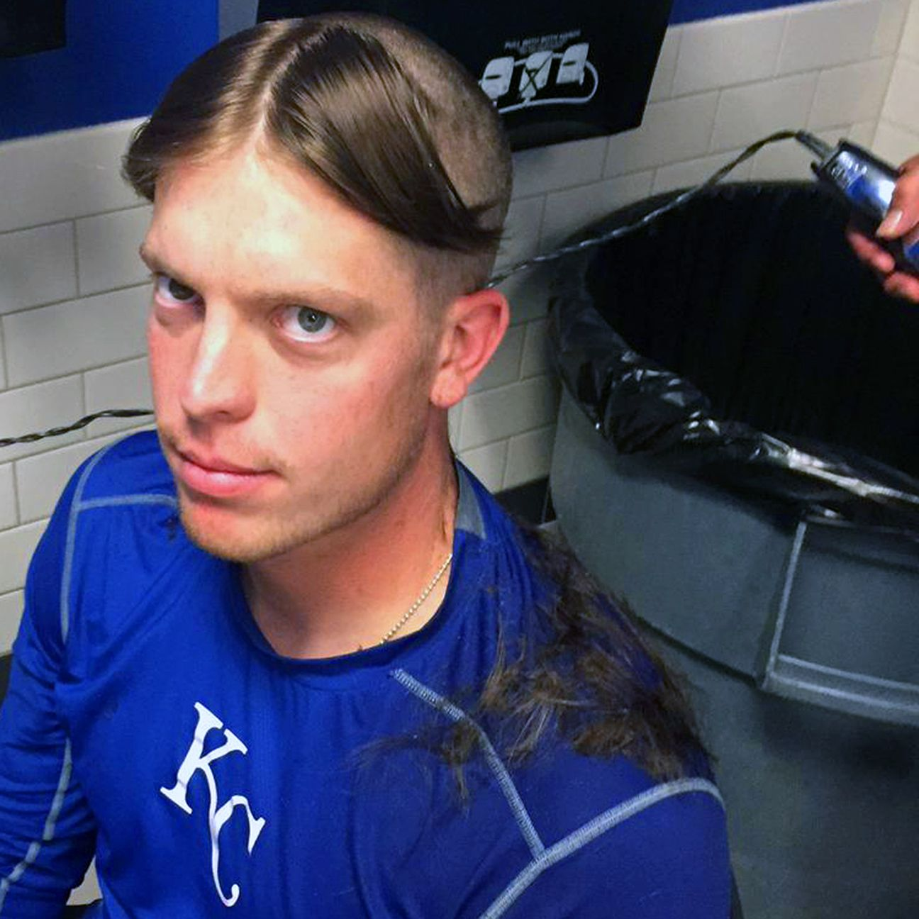 Minor leaguer Buddy Baumann gets unfortunate haircut after losing a ...