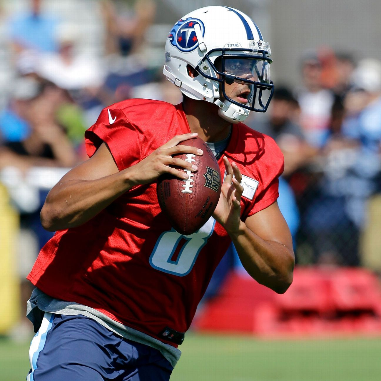 With Titans In Pads Marcus Mariota Will Feel Pass