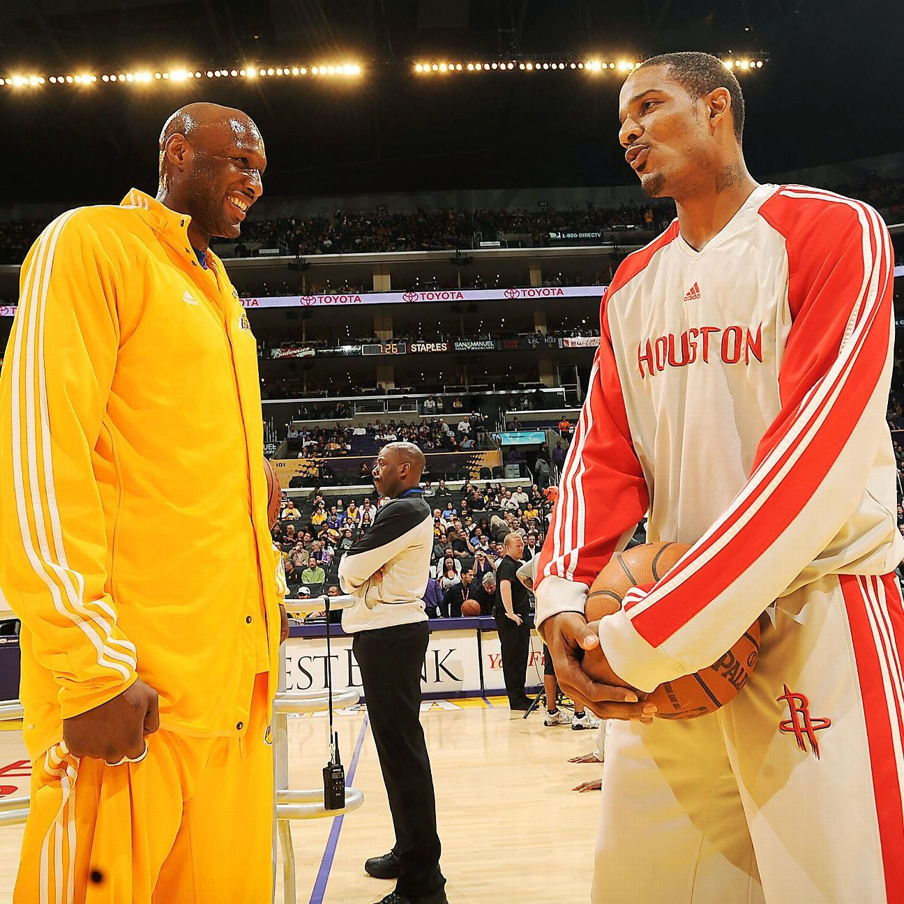 Houston Rockets Where To Watch The Upcoming Match Espn: Trevor Ariza Visits Lamar Odom