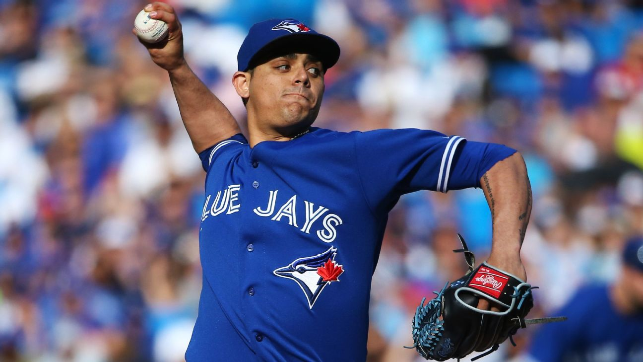Blue Jays' Osuna suspended 75 games by MLB