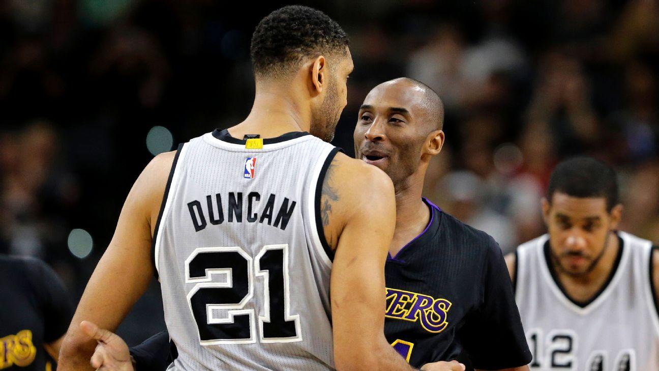 Kobe Bryant-Tim Duncan battles almost a wrap