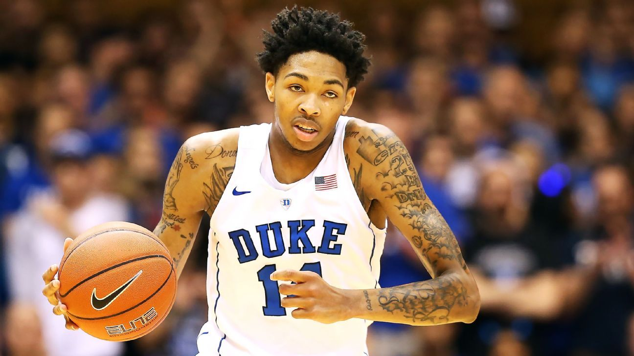 Duke Basketball Stats >> 2016 NBA draft -- Los Angeles Lakers take Brandon Ingram with No. 2 pick