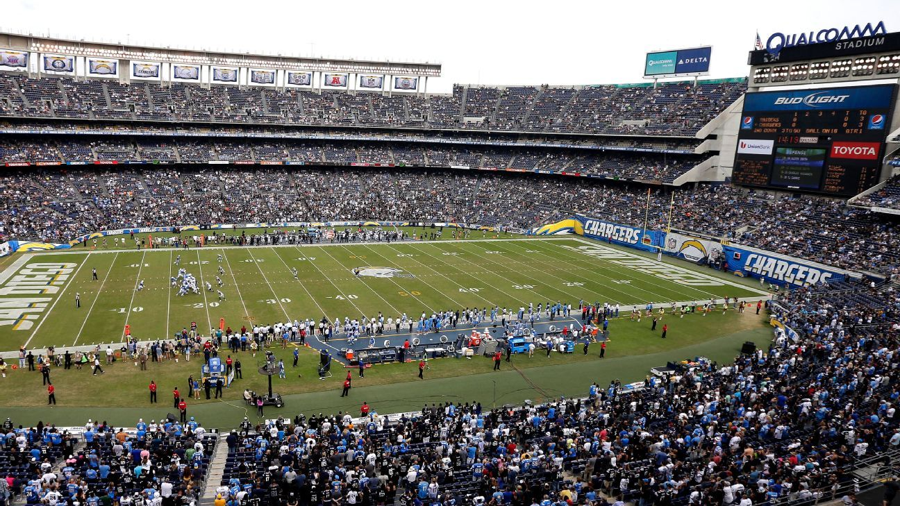 Fans expect Chargers back at Qualcomm Stadium next year ... Qualcomm Stadium Chargers