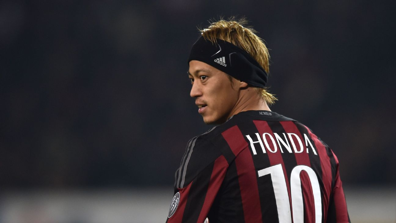 Keisuke Honda not exactly living the dream at AC Milan