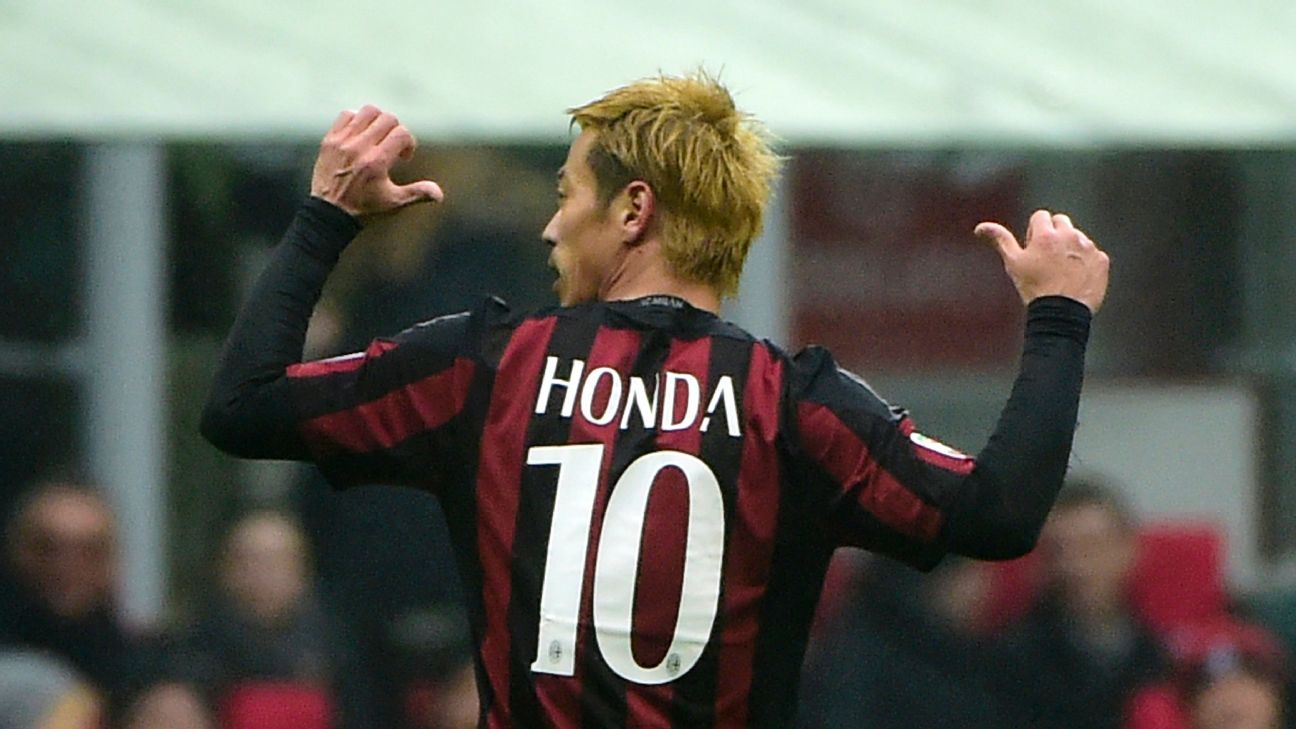 AC Milan s Keisuke Honda still learning how to be a winger