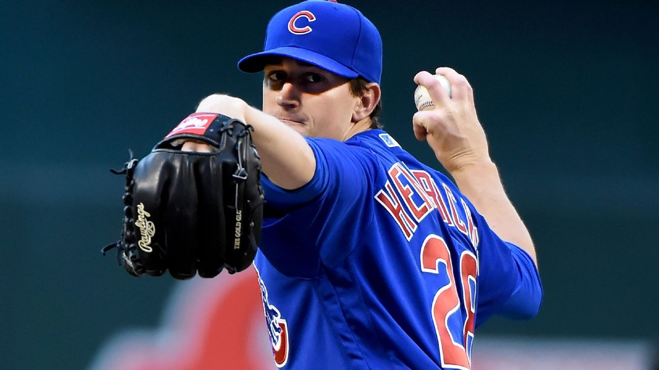 Kyle Hendricks proving as difficult to hit as the NL's top pitchers - Buster Olney Blog- ESPN