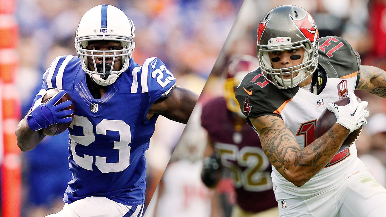 Biggest remaining holes for all 32 teams after 2016 NFL draft, Frank Gore, Mike Evans