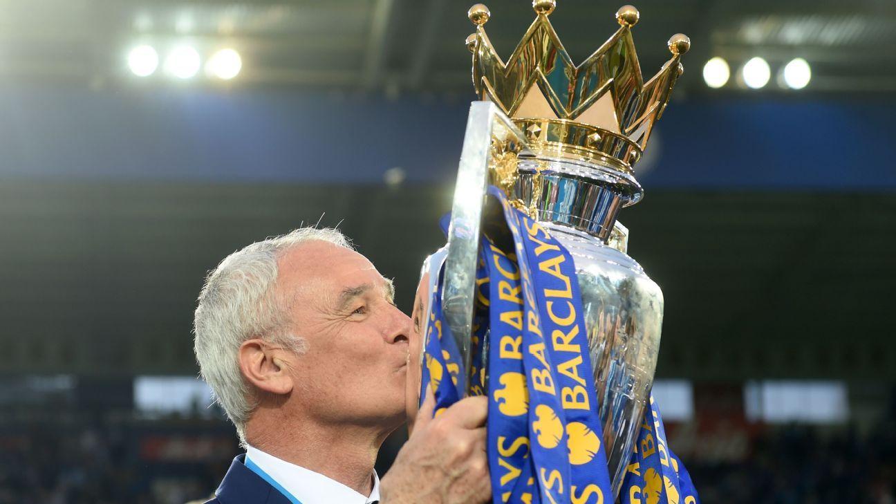 Claudio Ranieri se hizo con el trofeo de la  Premier League