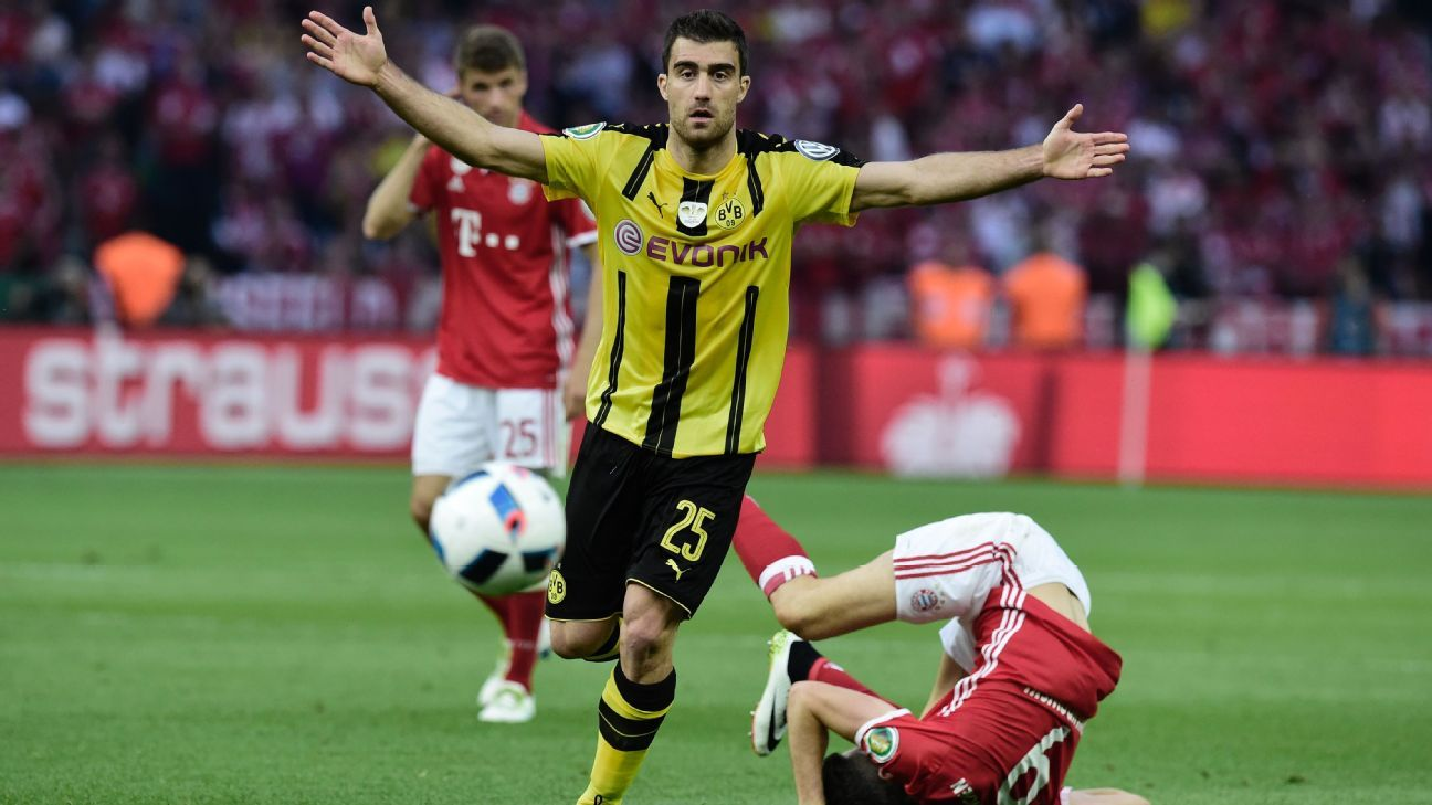 sokratis a rock for borussia dortmund despite german cup final defeat. Black Bedroom Furniture Sets. Home Design Ideas