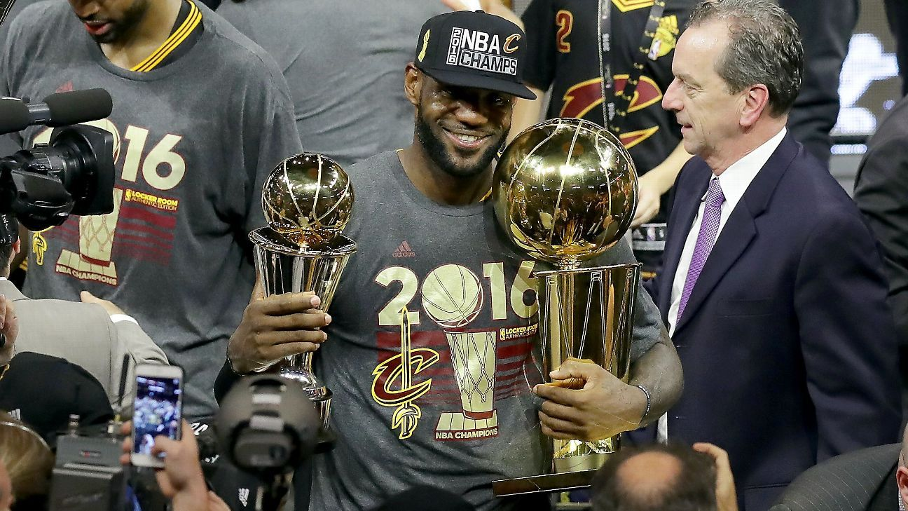 LeBron James of Cleveland Cavaliers named unanimous NBA Finals MVP