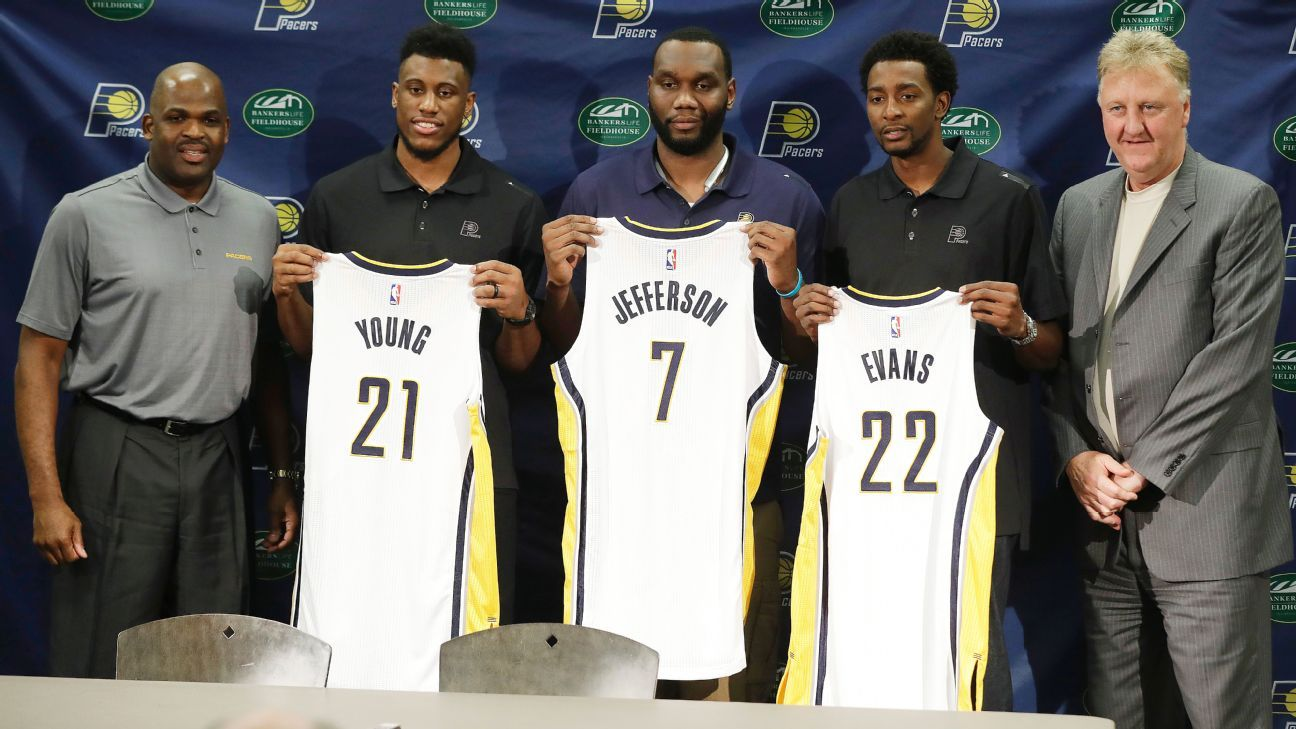 Indiana Pacers introduce new frontcourt including Thaddeus Young