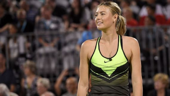Image result for Maria Sharapova begins re-entry into tennis world in Vegas