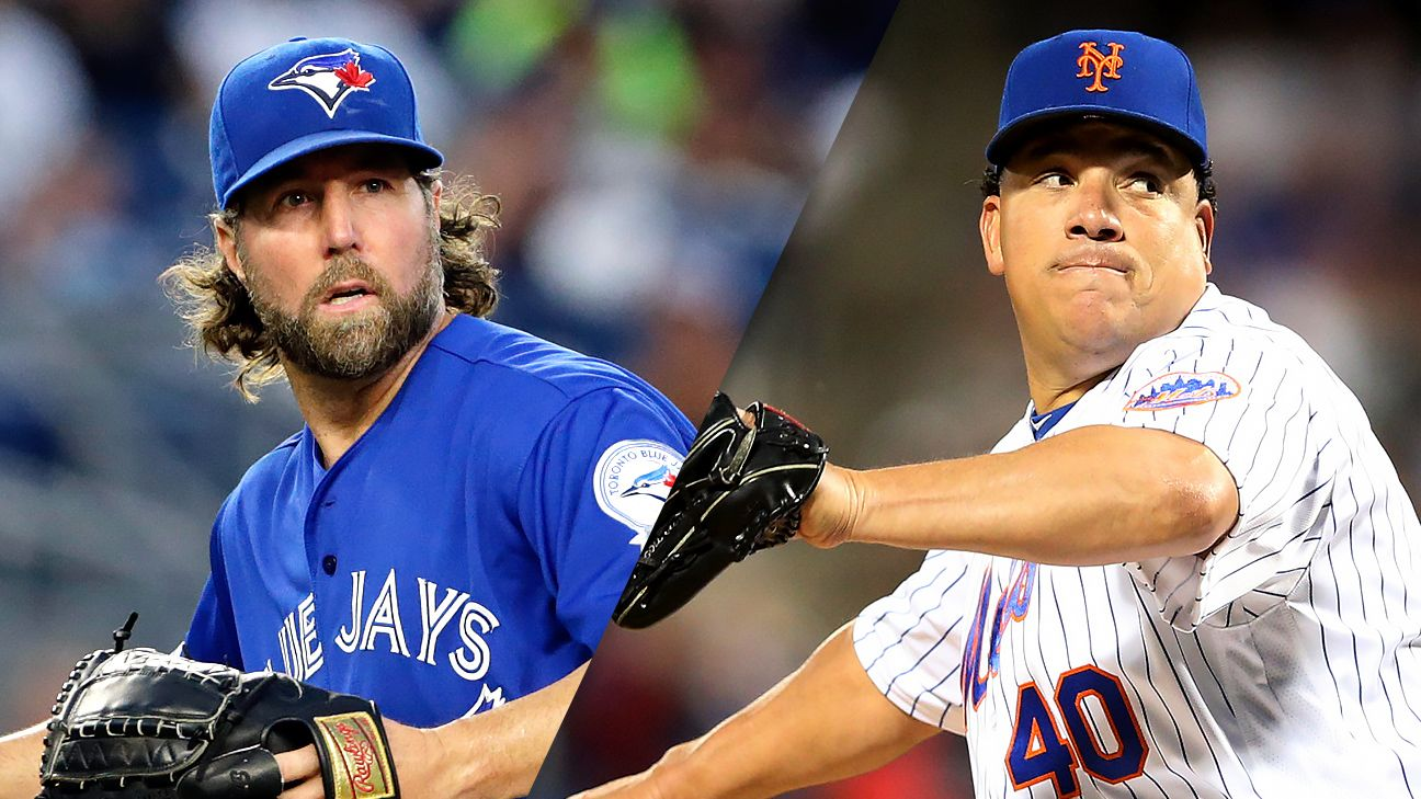 Old men, new Braves R.A. Dickey and Bartolo Colon (USA TODAY Sports)