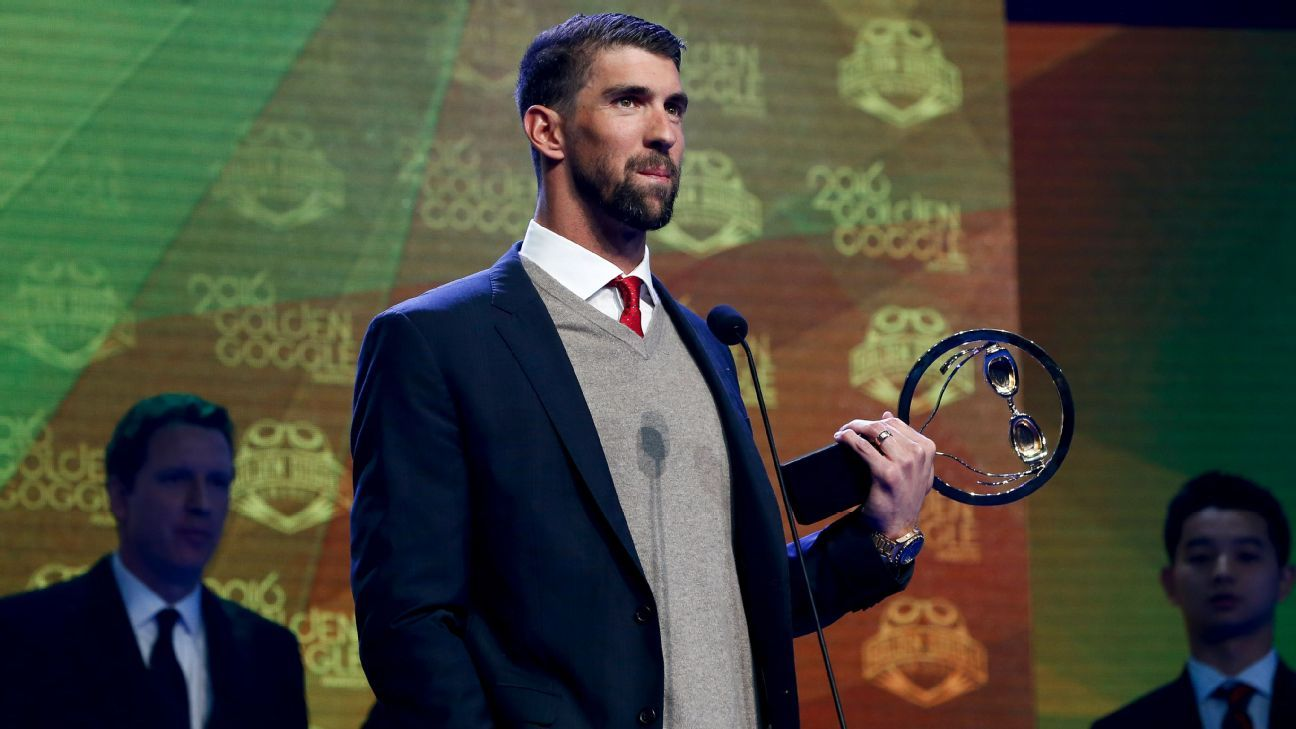 Michael Phelps, Katie Ledecky top winners at Golden Goggle Awards