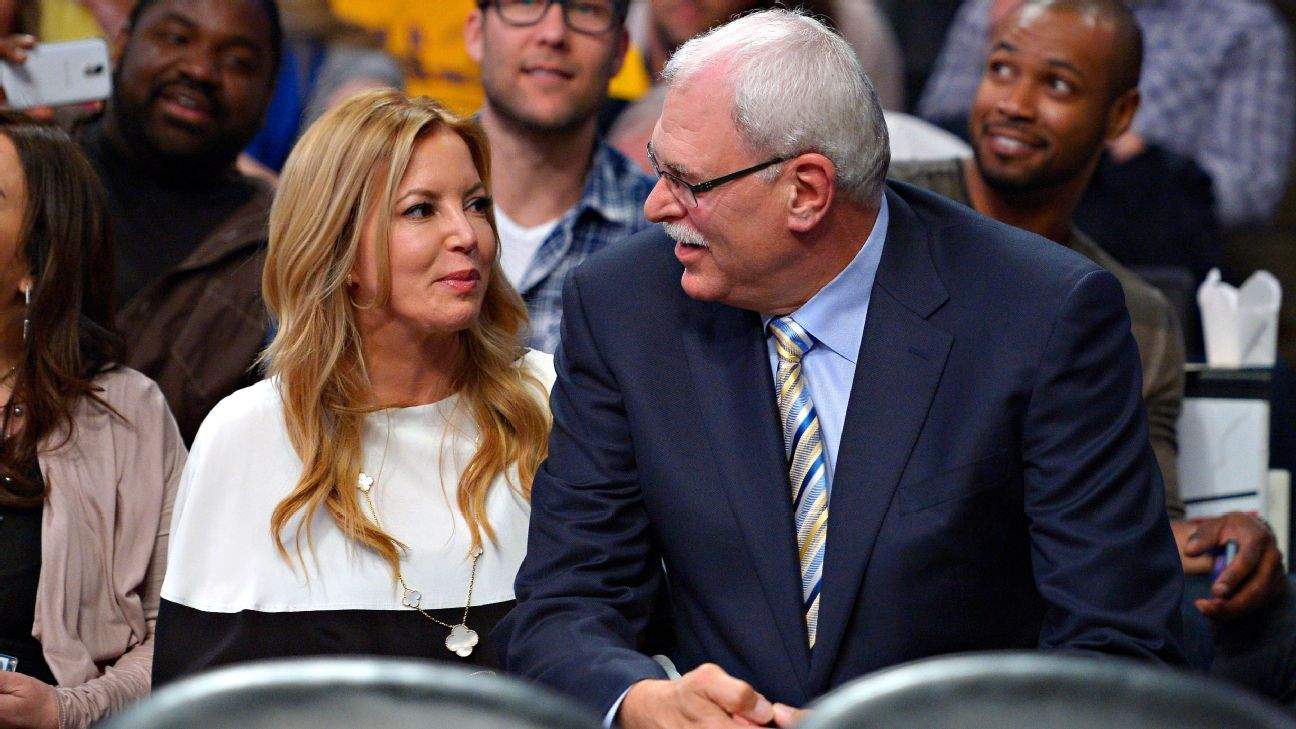 New York Knicks president Phil Jackson, Los Angeles Lakers ...