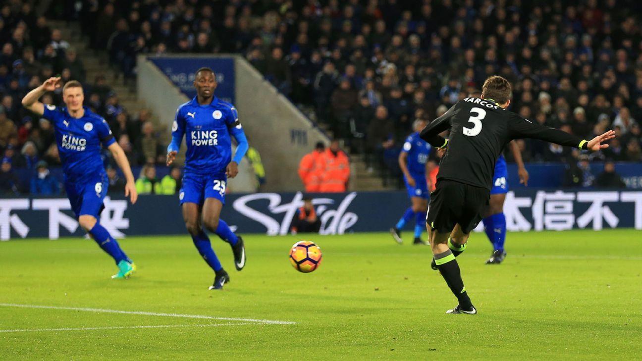 Premier league chelsea ease past leicester arsenal thrash swansea