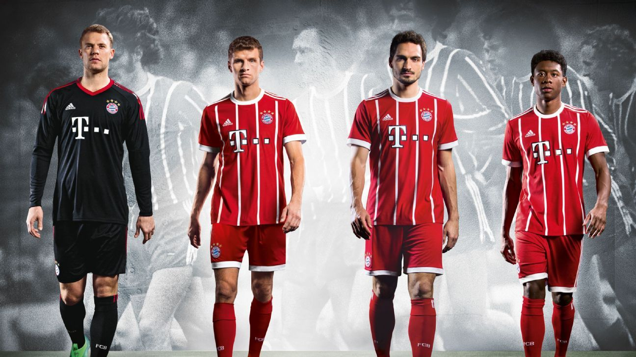 bayern munich go back to the future with retro kit for 2017 18 season. Black Bedroom Furniture Sets. Home Design Ideas