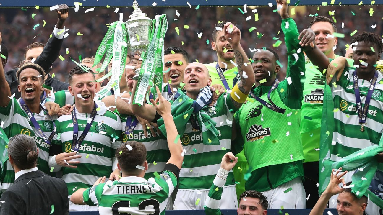 Rodgers' Celtic beat Aberdeen to win Treble