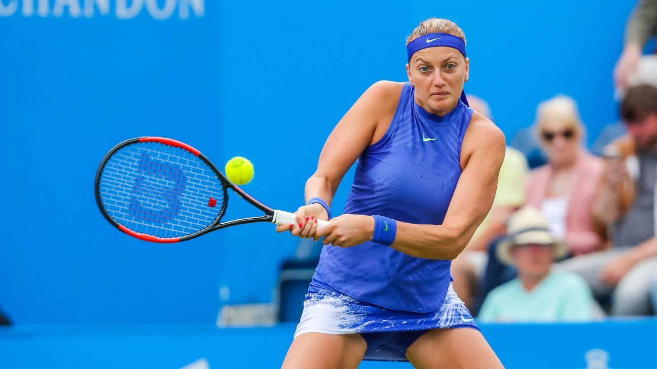 In-form Kvitova dismisses Wimbledon chances
