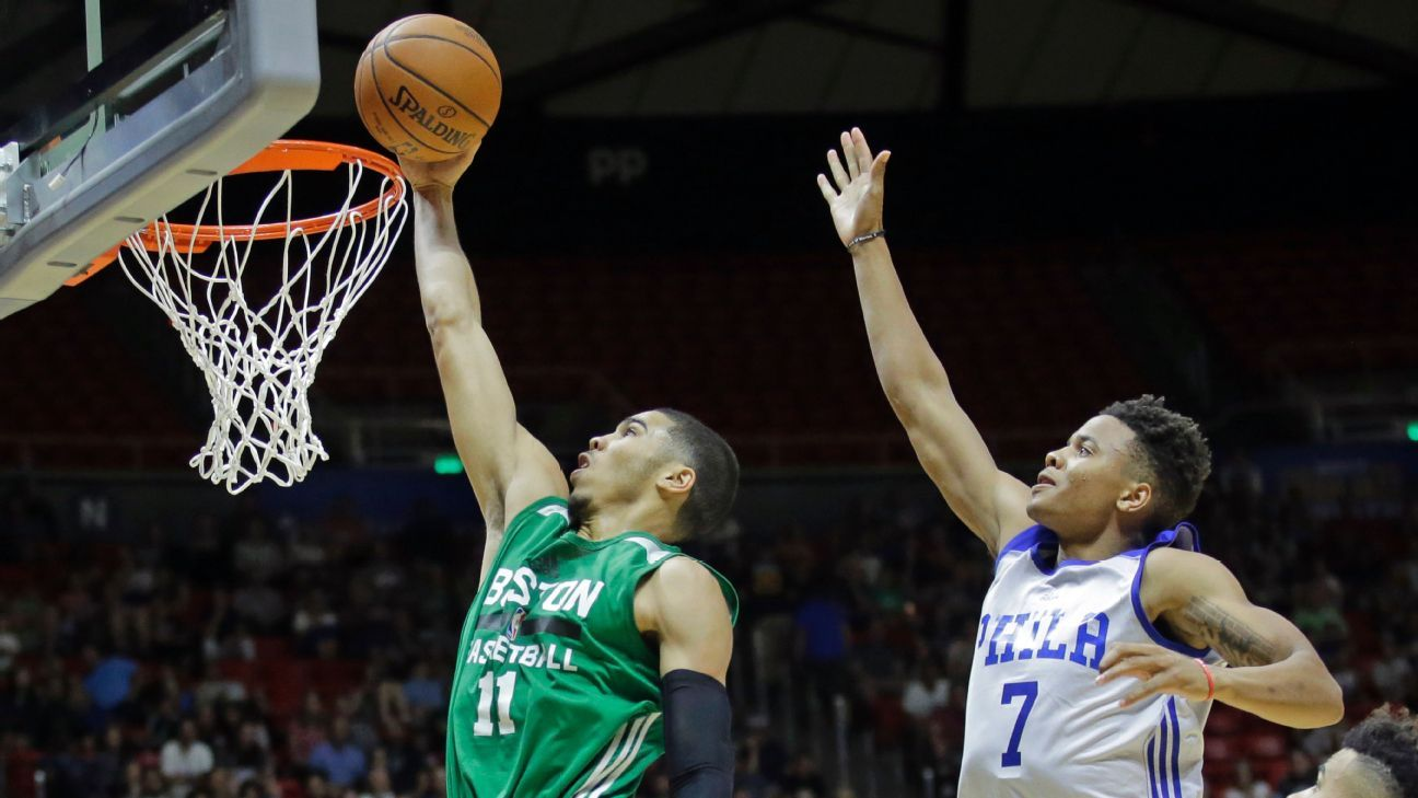 Boston Celtics' Jayson Tatum outduels Philadelphia 76ers ...