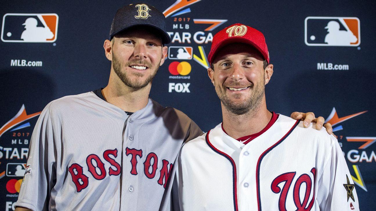 Chris Sale of Boston Red Sox, Max Scherzer of Washington ...