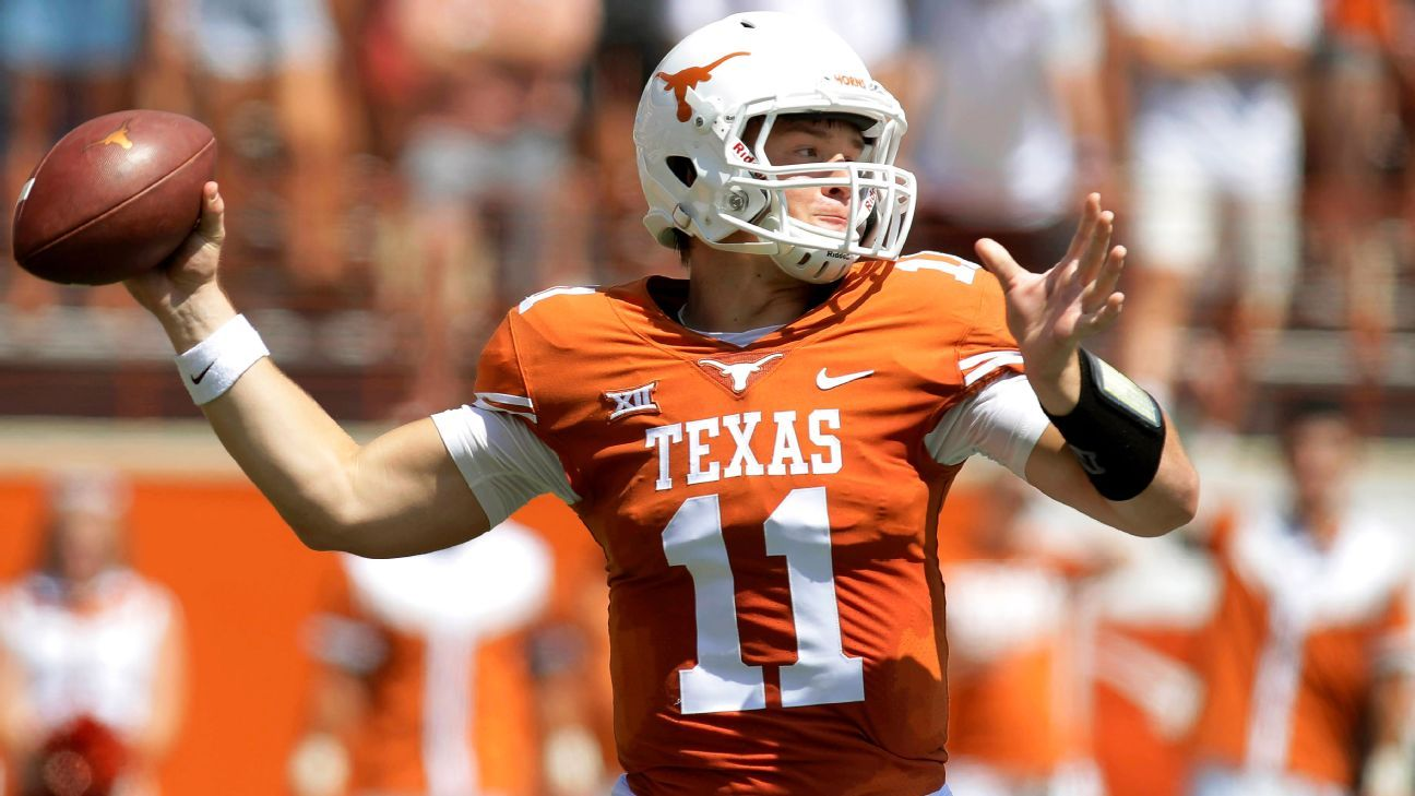 2017 College Football Playoff Teams >> Texas Longhorns QB Sam Ehlinger gets start vs. Kansas State Wildcats