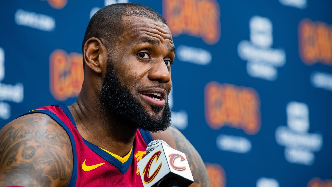 """[McMenamin] LeBron on his home being vandalized: """"True colors showed. One of the fucking best neighborhoods in America & my home was vandalized with the N-word. That shit puts it all back into perspective. I had a convo with my kids & let them know this is how it's going to be."""""""