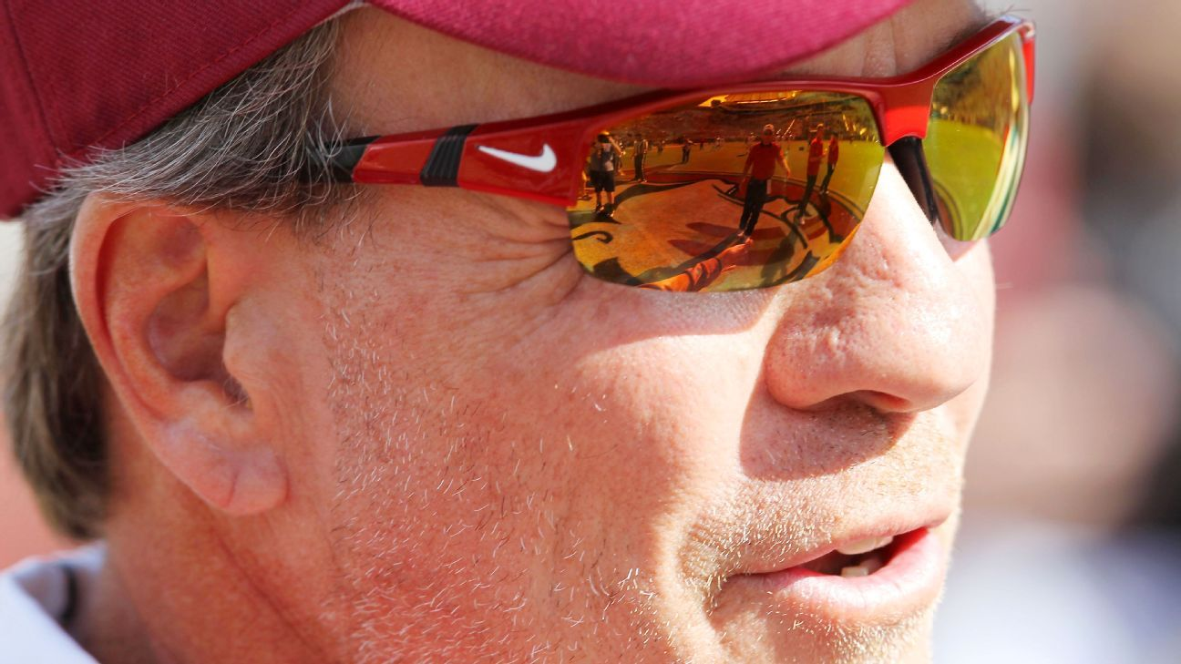 Jimbo Fisher of Florida State Seminoles defends spat with fan