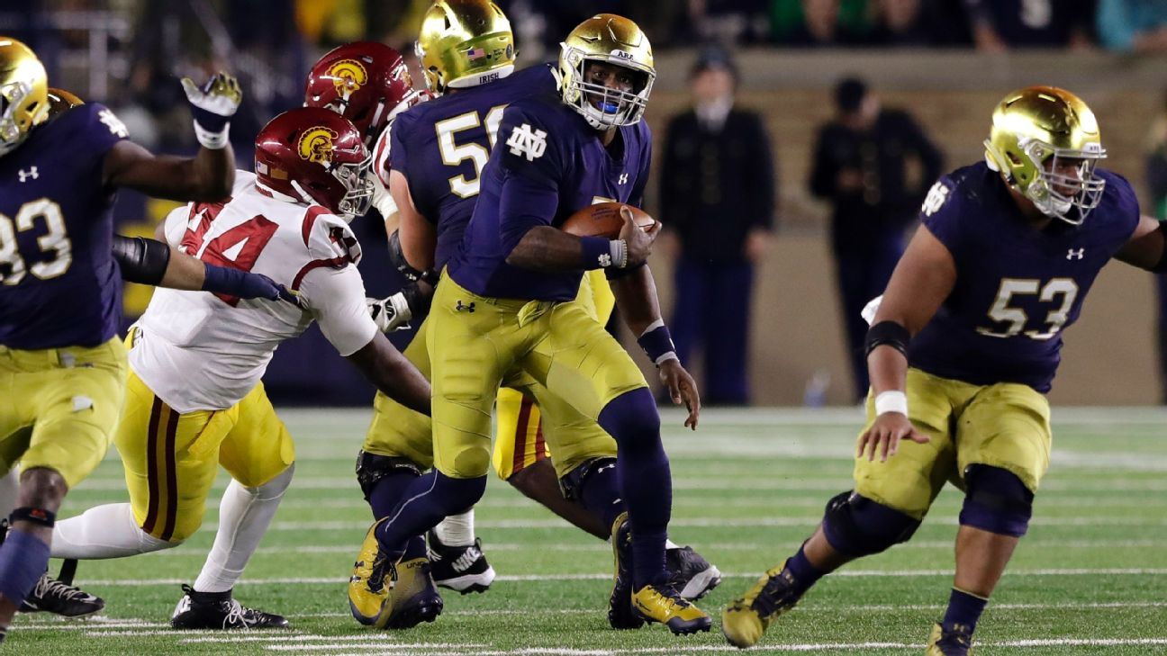 Irish start College Football Playoff campaign after taking out USC - College Football Nation Blog- ESPN