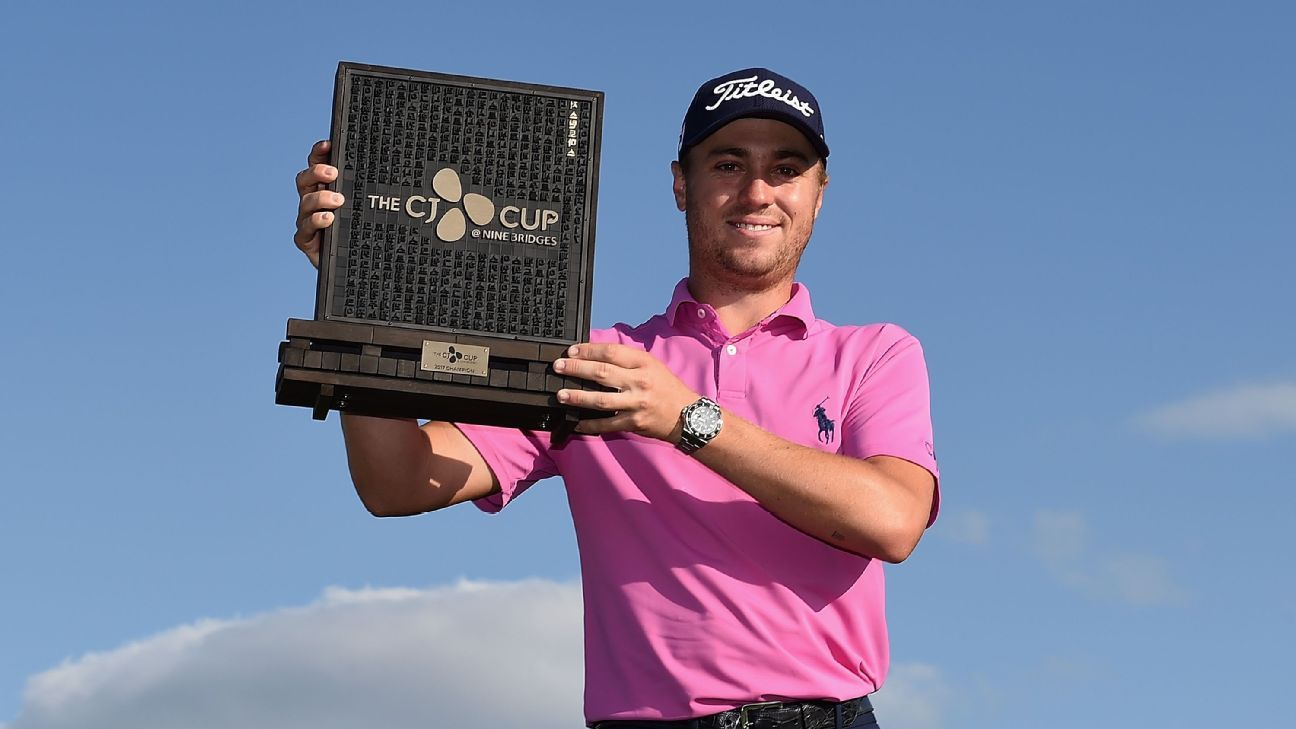 Justin Thomas wins CJ Cup in playoff