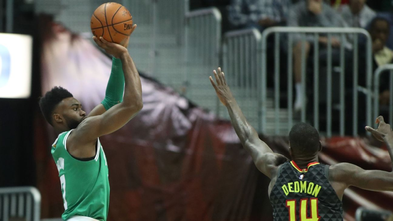 Cardiac Celtics come back from 16-point deficit to upend Hawks