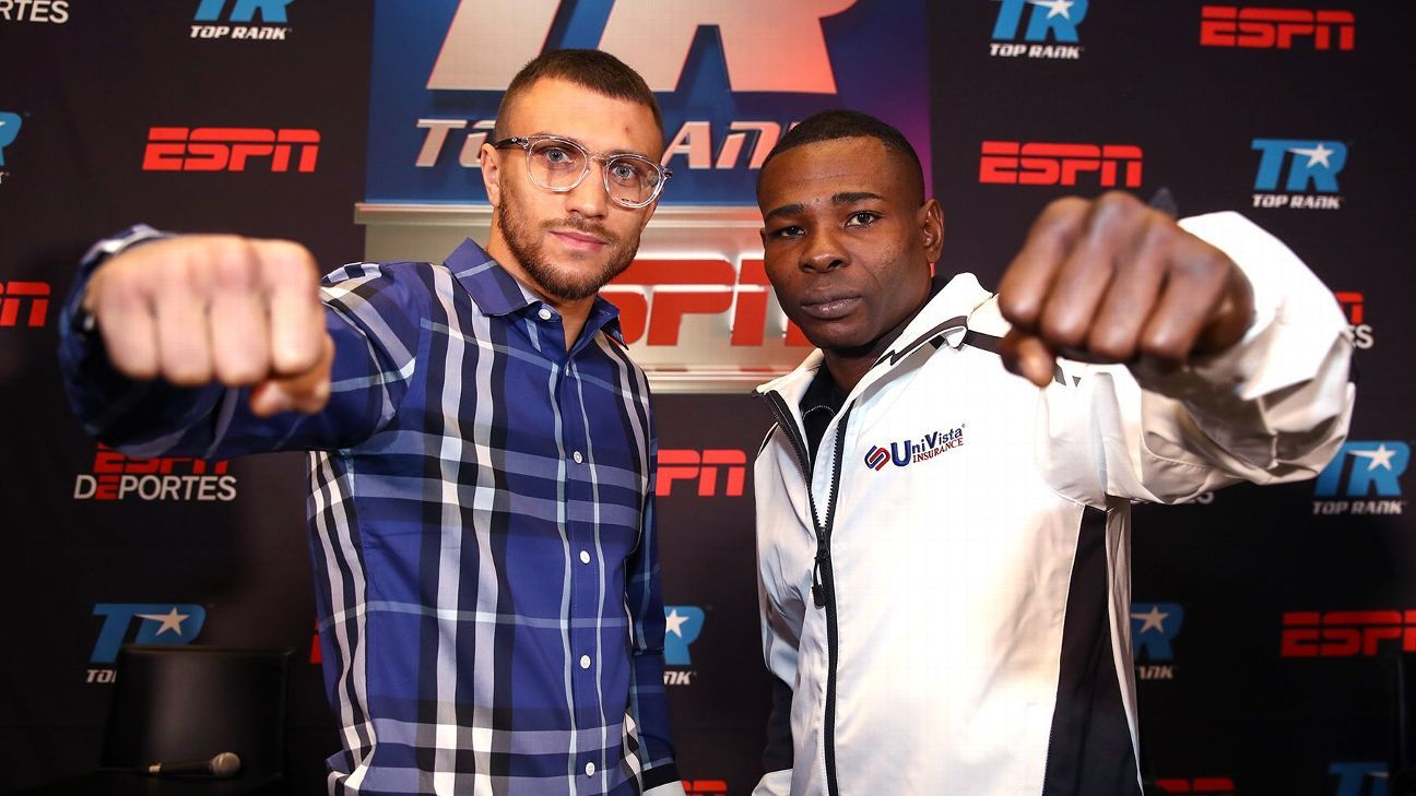 REMINDER: Free on ESPN today at 10ET/7PT, the historic boxing match between two double Olympic gold medalists, Lomachenko vs Rigondeaux