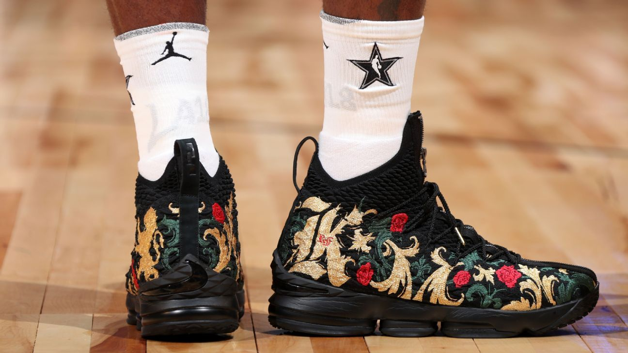 the player sneakers had the NBA best 2018 Which  All in NBA
