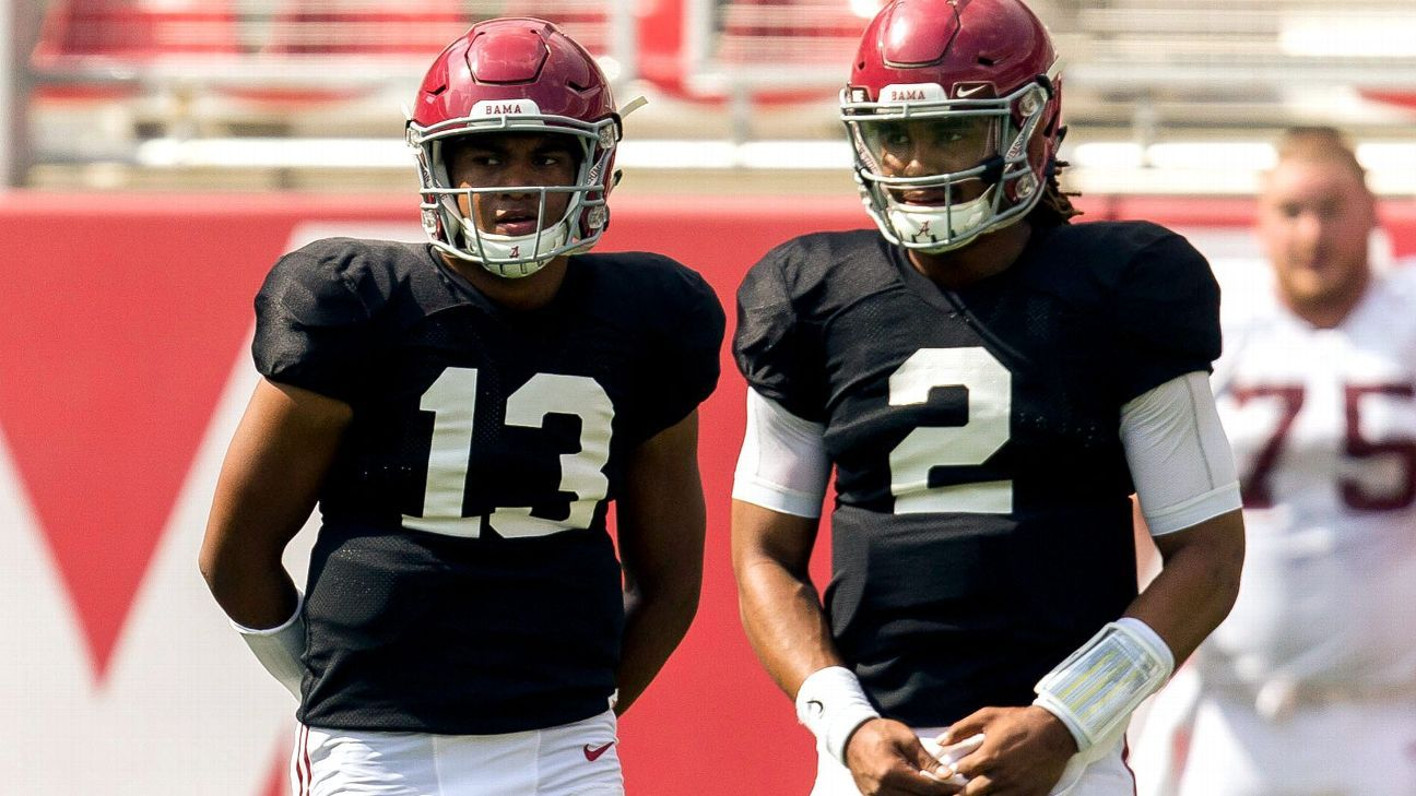 The spotlight will be on Alabama's quarterbacks this spring - SEC Blog- ESPN