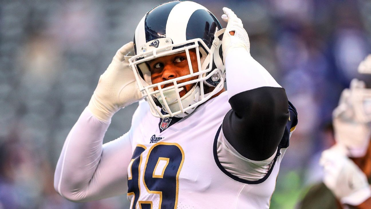 Holdout defensive tackle Aaron Donald and the Los Angeles Rams are in the