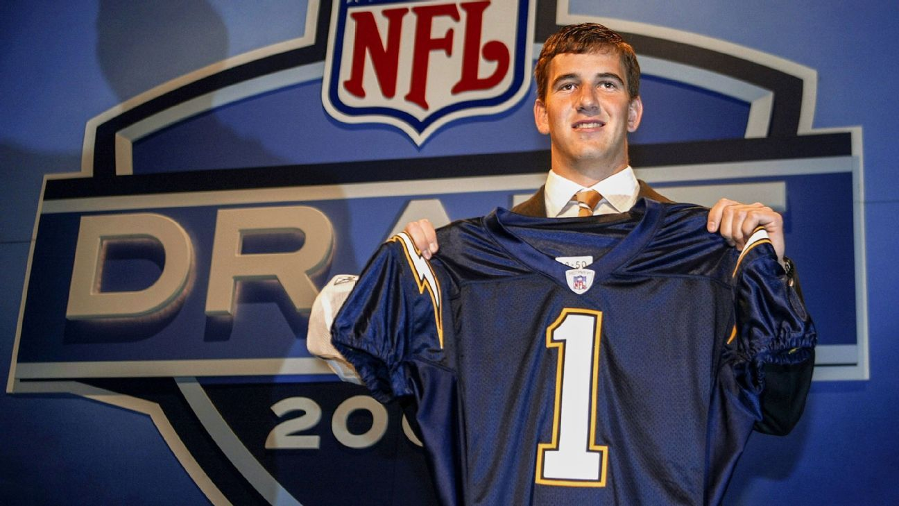 From the Chargers selecting Eli Manning (only to trade him) to Eagles fans booing Donovan McNabb, here's a look back at top draft-day highlights.