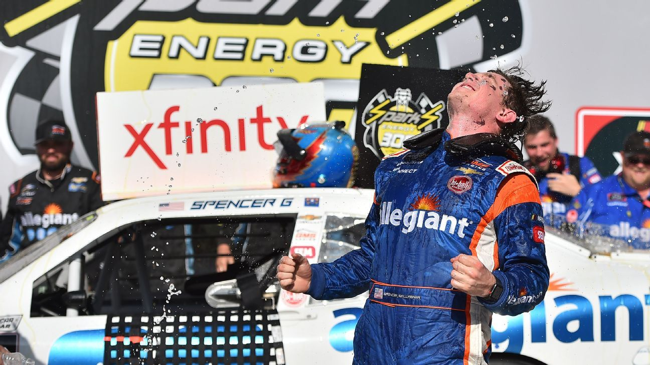 NASCAR - Spencer Gallagher's roller-coaster 2018 season could soon hit ultimate peak to Cup series after suspension for failed drug test